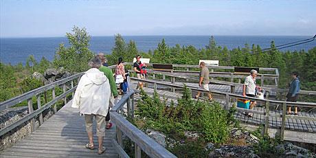 Bjuröklubb, ett välbesökt mål för kultur- och naturturister. Foto Skellefteå museum