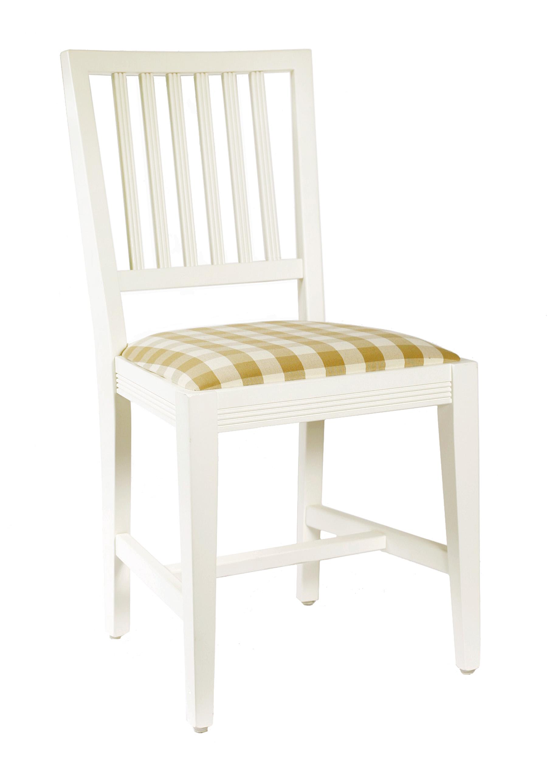 Tuvan, stol tillverkad i massiv björk, målad gräddvit.