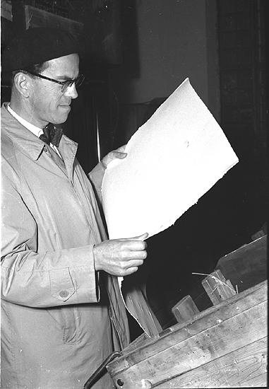 Papperstillverkningen på Bureå AB, en massafabrik under 1950-talet.